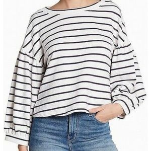 Ten Sixty Sherman Blue White Stripe Crop top